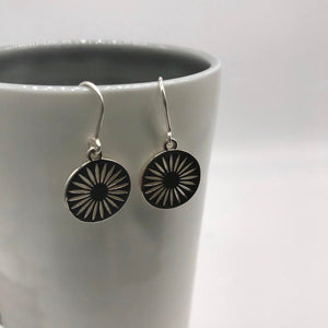 Daisy Token Hook Earrings Sterling Silver