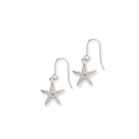 Starfish Hook Earrings Sterling Silver