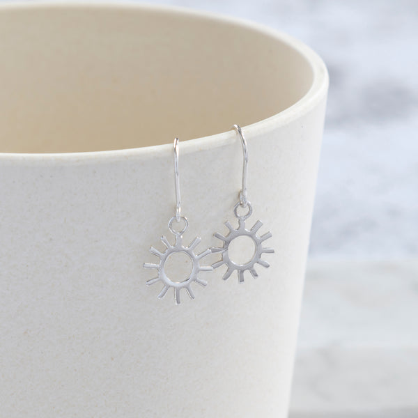 Sun Hook Earrings Sterling Silver