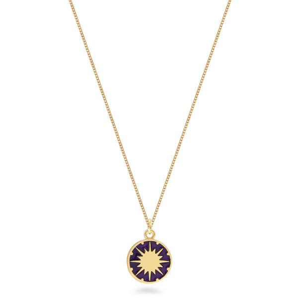 Supernova Enamel Necklace Gold Vermeil