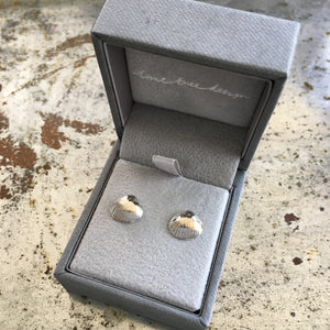 Shell Stud Earrings Sterling Silver