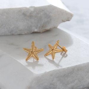 Starfish Stud Earrings Gold or Rose Gold Vermeil