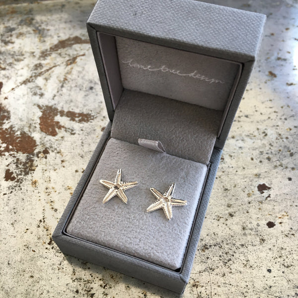 Starfish Stud Earrings Sterling Silver