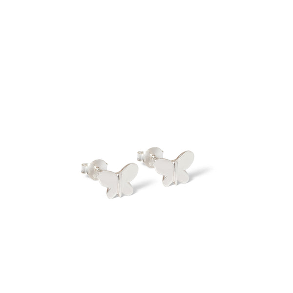 Butterfly Stud Earrings Sterling Silver