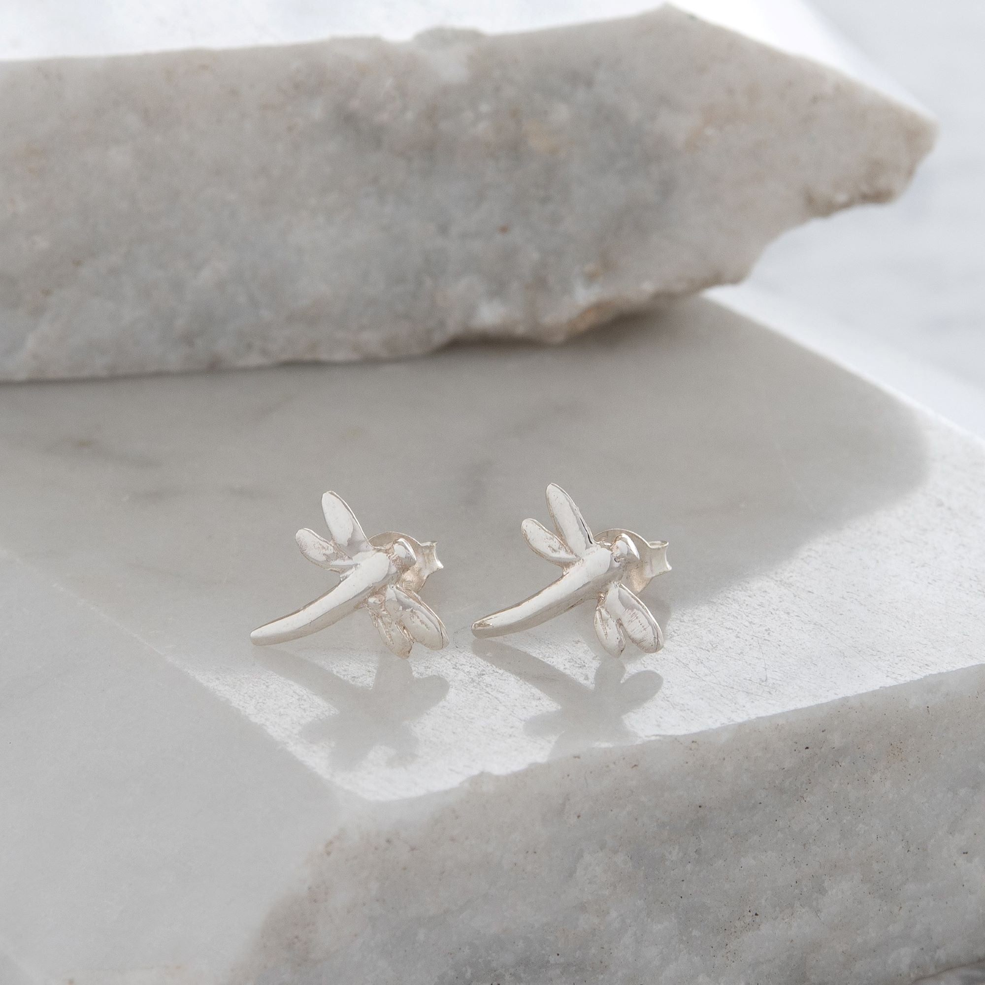 Dragonfly Stud Earrings Sterling Silver