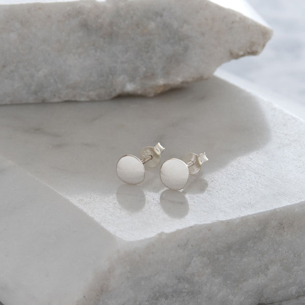 Blob Stud Earrings Sterling Silver