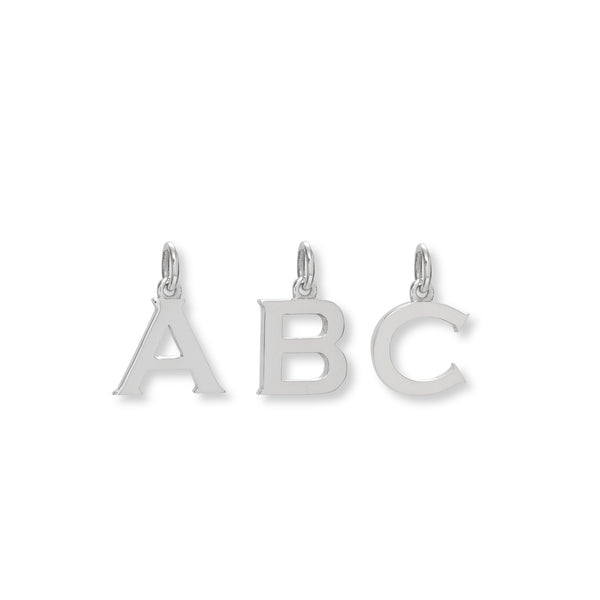 Letter Charm Sterling Silver