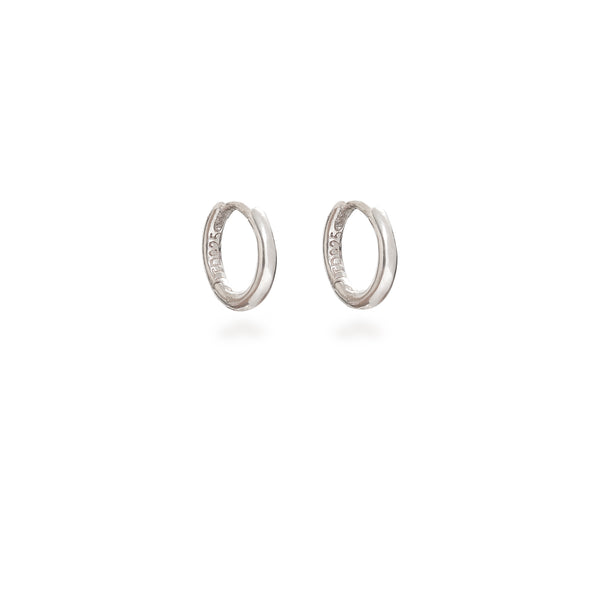 Huggie Hoop Earrings Sterling Silver