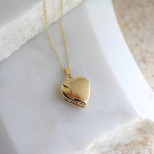 Heart Locket Necklace 9ct Solid Gold