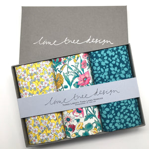 3 Liberty Hankies in a Gift Box - Mellow Yellow