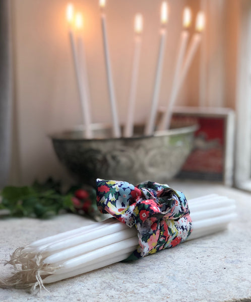 Sting in the Tail White Wax Taper Candles