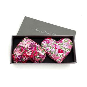 Box of 2 Lavender Hearts - Heart and Soul