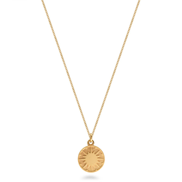 Supernova Medallion Necklace Gold Vermeil