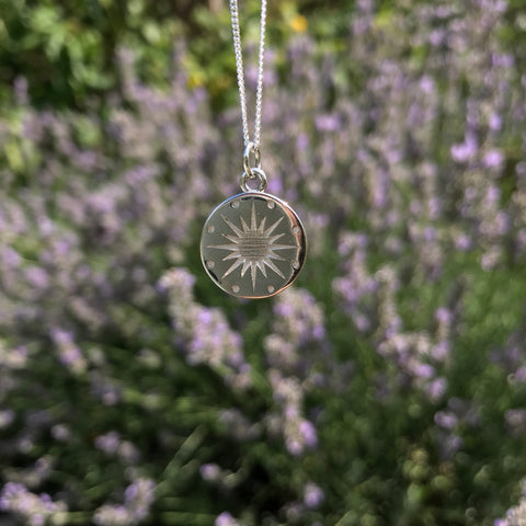 Star Medallion Necklace Sterling Silver