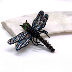 Dragonfly Brooch: Black