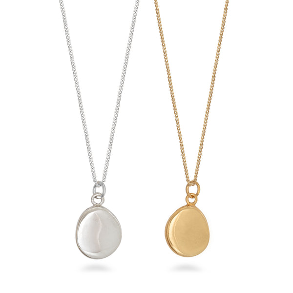 Blob Pendant Necklace Gold Vermeil