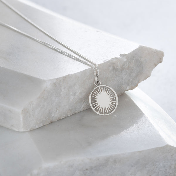 Atomic Token Charm Necklace Sterling Silver