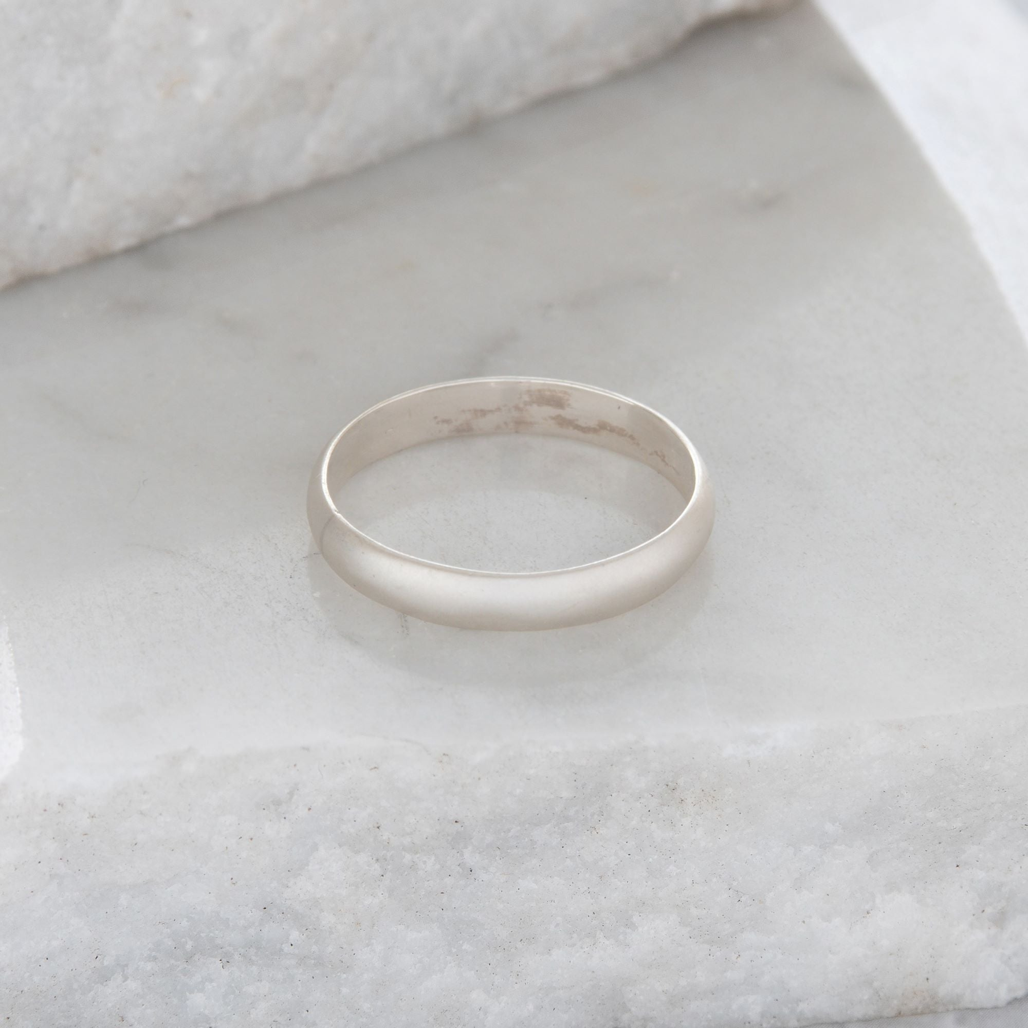 Matte Stacking Ring Sterling Silver