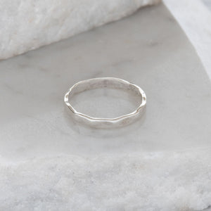 Facetted Stacking Ring Sterling Silver