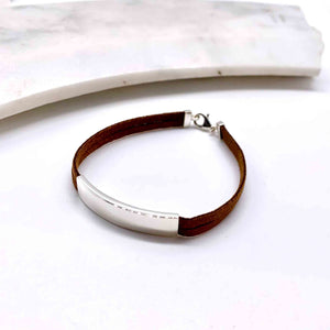 Brown Suede and Sterling Silver Bracelet