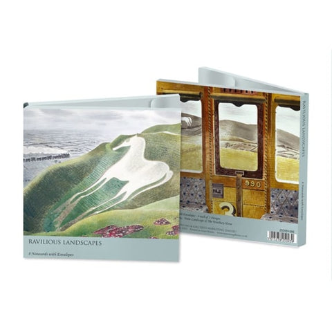 Pack of 8 Notecards - Ravilious Landscapes