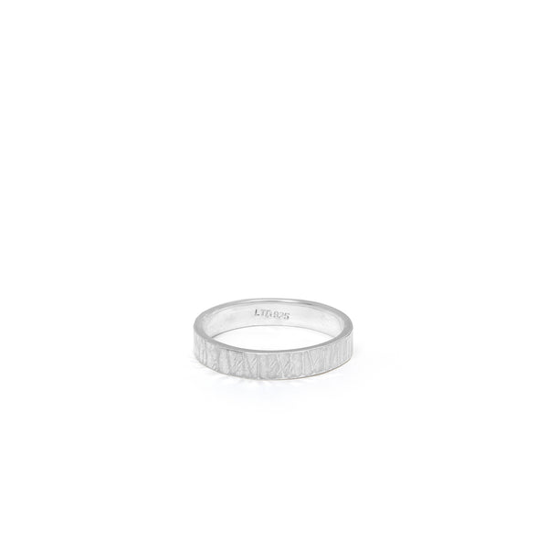 Hammered Stacking Ring Sterling Silver