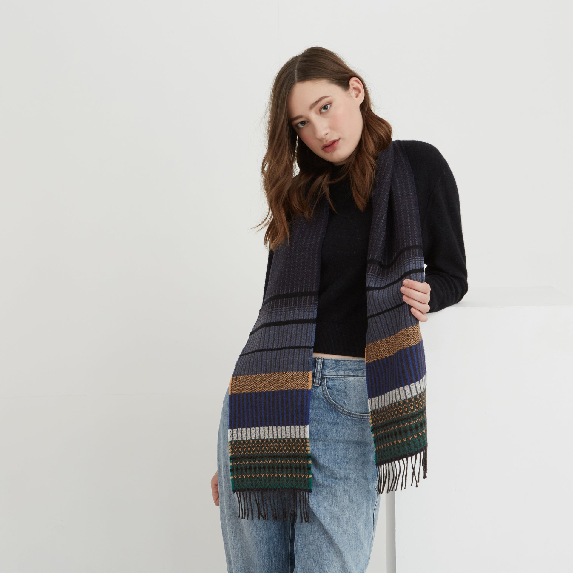 Wallace Sewell Scarf - Kyoto Navy