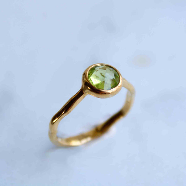 Rodgers & Rodgers Peridot & Gold Vermeil Ring