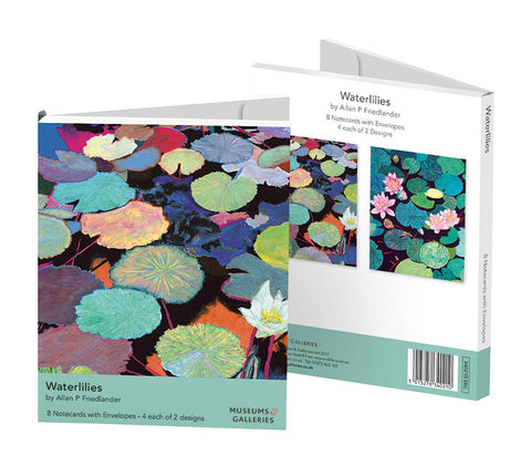 Pack of 8 Large Notecards - Waterlilies