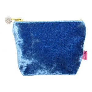 Mini Velvet Purse: Cobalt Blue
