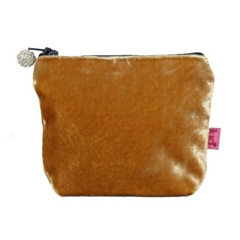 Mini Velvet Purse: Gold