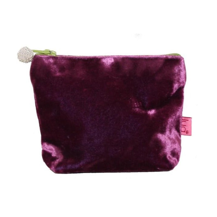 Mini Velvet Purse: Plum