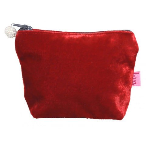 Mini Velvet Purse: Red