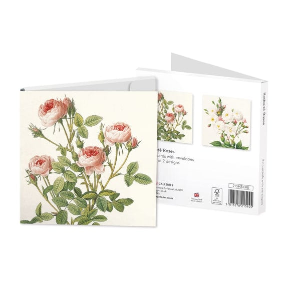 Pack of 8 Notecards - Redouté Roses