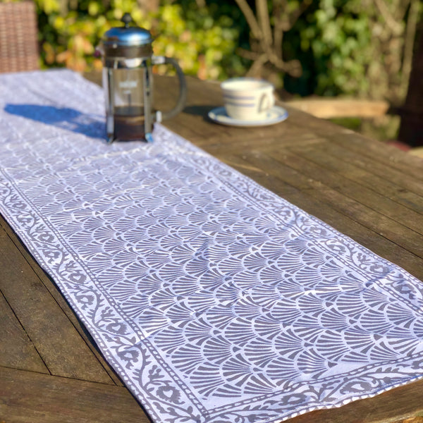 Block Printed Cotton Table Runner