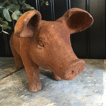 Load image into Gallery viewer, Cast Iron Piglet Ornament Henderson's Large