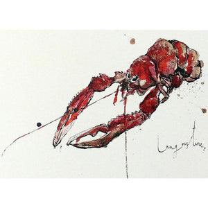 Foodie Postcard By Anna Wright Postcard Henderson's langoustine