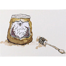 Load image into Gallery viewer, Foodie Postcard By Anna Wright Postcard Henderson's pot of heather honey