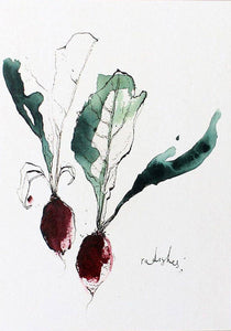 Foodie Postcard By Anna Wright Postcard Henderson's radish