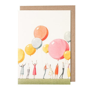 Illustrated Greetings Cards Greetings card Henderson's Balloon Party