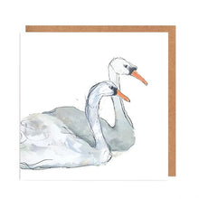Load image into Gallery viewer, Illustrated Greetings Cards Greetings card Henderson's Beautiful Swans