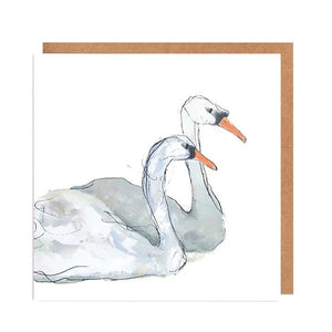 Illustrated Greetings Cards Greetings card Henderson's Beautiful Swans