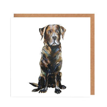 Load image into Gallery viewer, Illustrated Greetings Cards Greetings card Henderson's Chocolate Lab