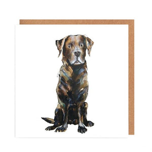 Illustrated Greetings Cards Greetings card Henderson's Chocolate Lab
