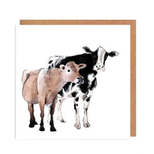 Load image into Gallery viewer, Illustrated Greetings Cards Greetings card Henderson's Friendly Cows