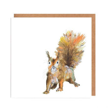 Load image into Gallery viewer, Illustrated Greetings Cards Greetings card Henderson's Red Squirrel