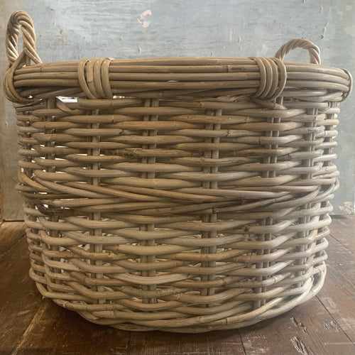 Round Rattan Log Basket Log Basket Henderson's Large