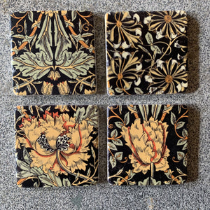 Set of 4 Vintage Style Floral Coasters Coasters Henderson's