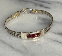 Load image into Gallery viewer, Baby Bracelet Sterling Silver with 3 Birthstone Beads