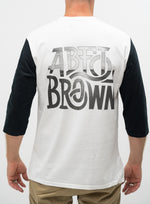 Load image into Gallery viewer, Abel Brown Stretch Baseball Tee - White